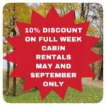 May & September 10% discount on full week rentals